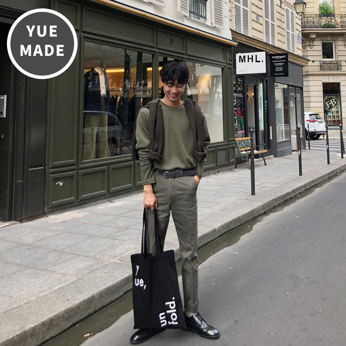 yue x unfold eco bag [ black ]